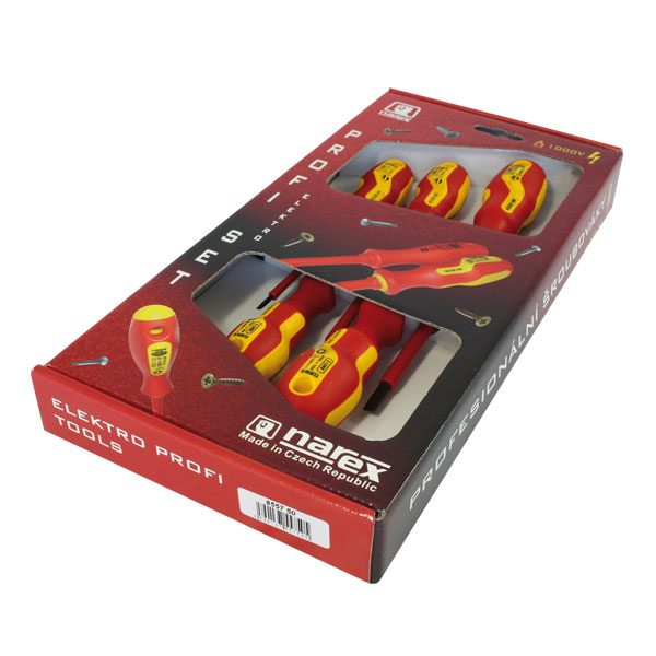 Narex S Line Electro Profi szigetelt csavarhúzó készlet 5 db-os 855750
