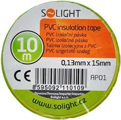 Szigetelőszalag, 15mm x 0,13mm x 10m, zöld AP01