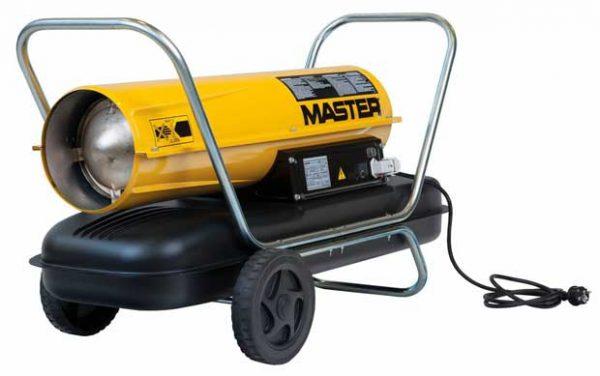 Master alacsony nyomású gázolajos hőlégbefúvó hősugárzó befúvó 29 kW B100CED