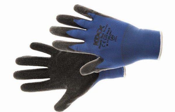 BEASTY BLUE kesztyű nylon, latex tenyér kék 10