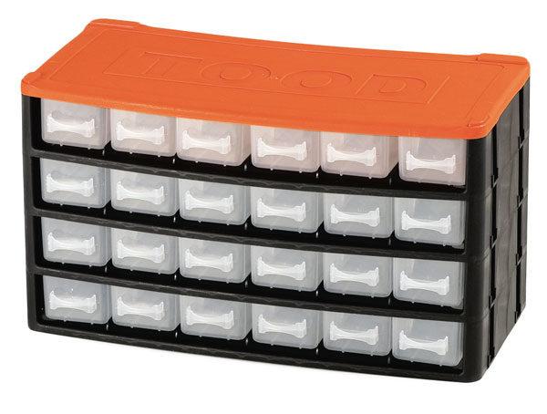 Műanyag szekrény fiókos tároló szerszámtároló 24 fiók horgászdoboz horgász doboz330x160x180mm CD1224