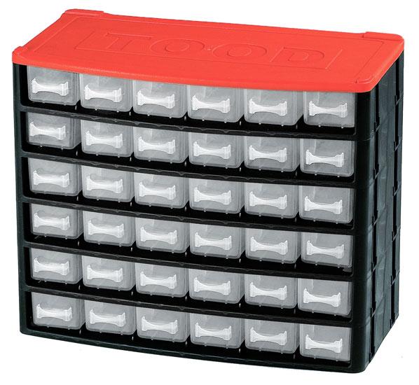 Műanyag szekrény fiókos tároló szerszámtároló 18  fiók horgászdoboz horgász  330x170x260mm CD1236
