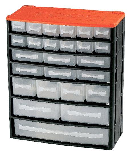 Műanyag szekrény fiókos tároló szerszámtároló 25 fiók horgászdoboz horgász doboz330x160x380mm CD1325