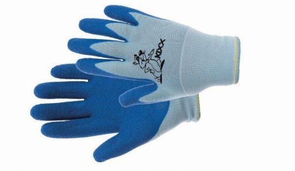 CHUNKY – kesztyű nylon, latex tenyér kék, méret 4