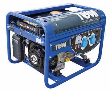 TUSON benzines áramfejlesztő generátor aggregátor egyfázisú 2500W kimenet 2x230V ELC3000