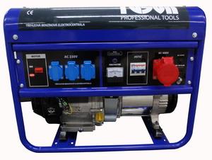 TUSON benzines áramfejlesztő generátor aggregátor háromfázisú 5500W kimenet 3x220V+1x380V E ELC6500T