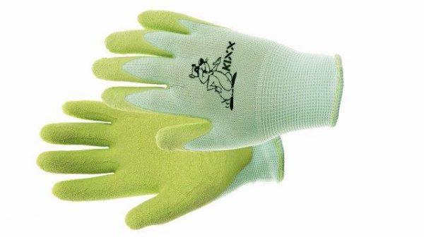 FUDGE kesztyű nylon, latex tenyér zöld 5
