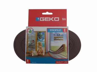 GEKO – Öntapadós gumi tömítő barna EPDM 9x4mm / 6m E-profil G1000/2