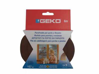 GEKO – Öntapadós gumi tömítő barna PVC 9x3mm / 6m G1200/4