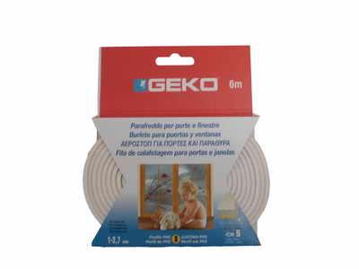 GEKO – Öntapadós gumi tömítő fehér PVC 9x3mm / 6m G1200/2