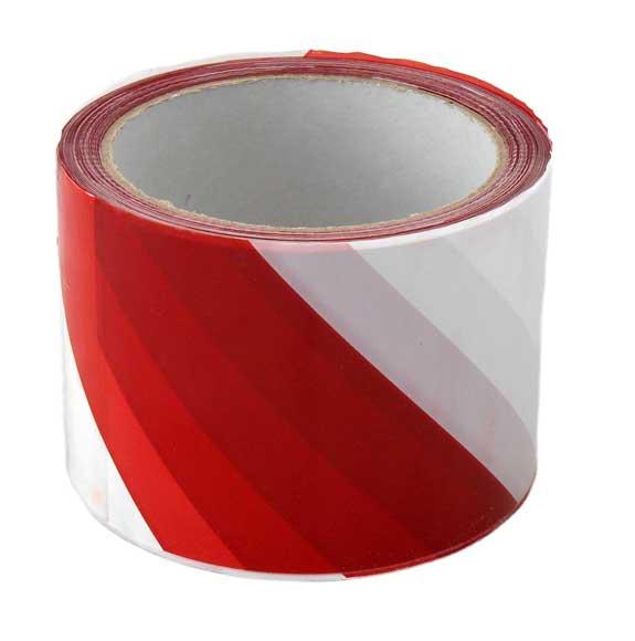 Figyelmeztető szalag piros/fehér 70mm x 100m