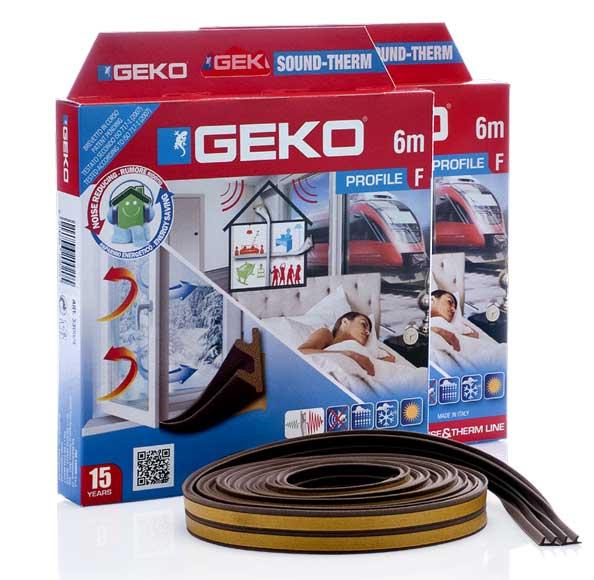 GEKO – Ablaktömítő hab öntapadós barna F-profil 2x3m G3300/4