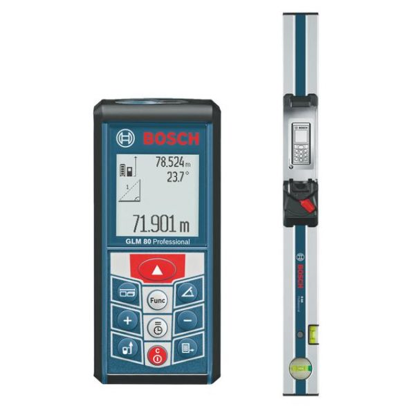 Bosch GLM 80 lézeres távolságmérő Li-ion 80 méterig+ R60 vízmérték GLM80+R60