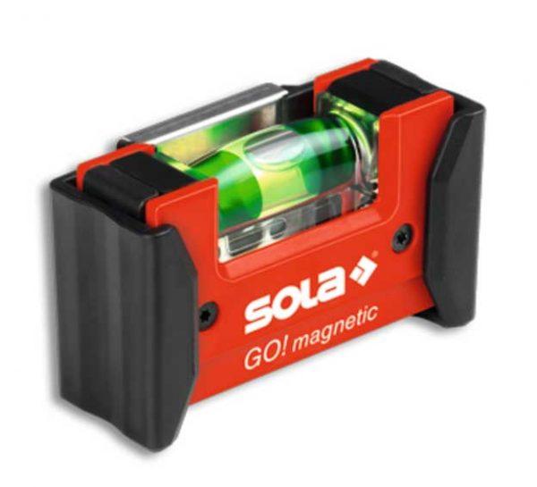 SOLA – GO! magnetic CLIP – kompakt vízmértékek 7,5cm