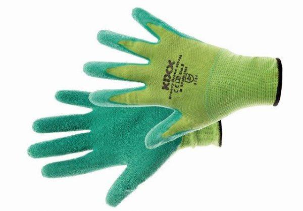GROOVY GREEN kesztyű nylon, latex tenyér zöld 10