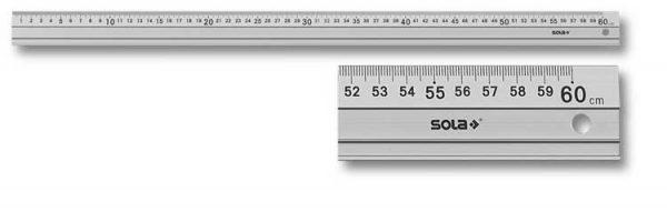 SOLA – LAG 600  Acélvonalzó 600mm 56101401