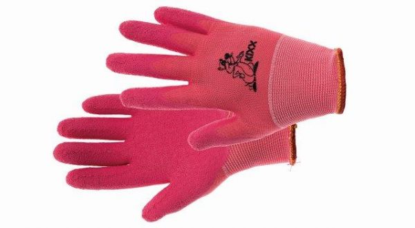 LOLLIPOP – nilon kesztyű latex, rózsaszín, méret 5