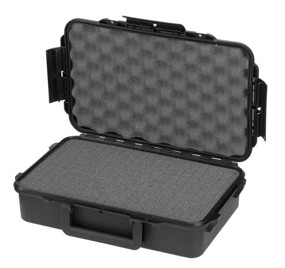 MAXI műanyag koffer műanyag táska tároló védőtok 350x230x86 mm fekete MAX004S