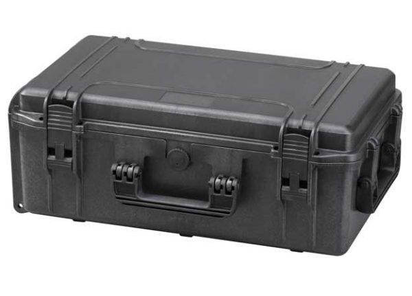 MAXI műanyag koffer műanyag táska tároló védőtok 574 x 361 x 225 mm fekete MAX520S