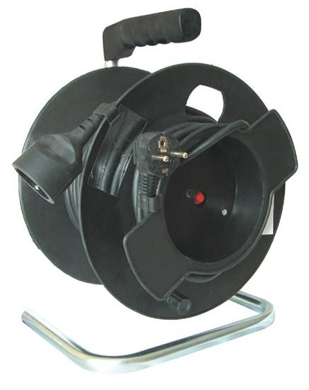Hosszabbító kábel dobbal 3×1,5mm2, 25 m, 1 aljzat PB11