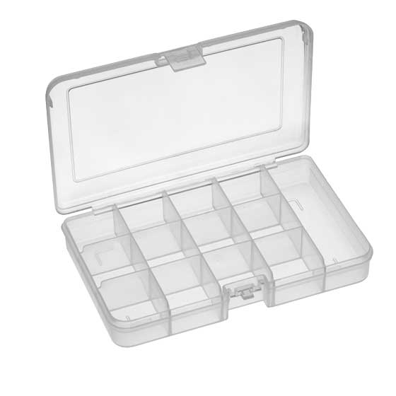 Műanyag tároló doboz 165x112x31xmm, 13 rekeszes PP101ETN