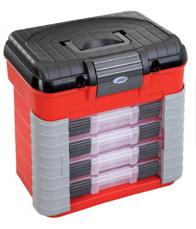 Műanyag szerszámos láda szerszám tároló rendszerező tároló láda 420 x 303 x 400 mm 4 fiók PP501