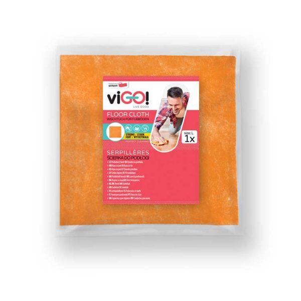 Felmosókendő / felmosórongy, narancs, 50×60 cm – csomagolt Q010