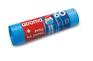 Szemeteszsák HDPE behúzós 60l / 10 db, 60×70 cm – kék Q028