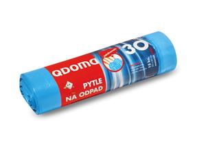 Szemeteszsák HDPE behúzós 30l / 15 db, 50×60 cm – kék Q032