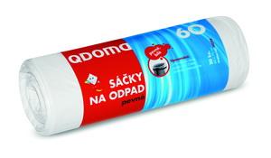 Szemeteszsák HD 60l / 20 db, 60×70 cm – fehér Q074