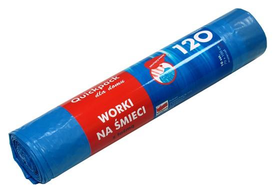 Szemeteszsák LD 120l / 10 db, 70×100 cm, 25my – kék Q083