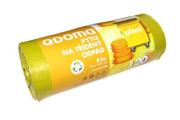Szemeteszsák LD 120l / 8 db MŰANYAG sárga Q136