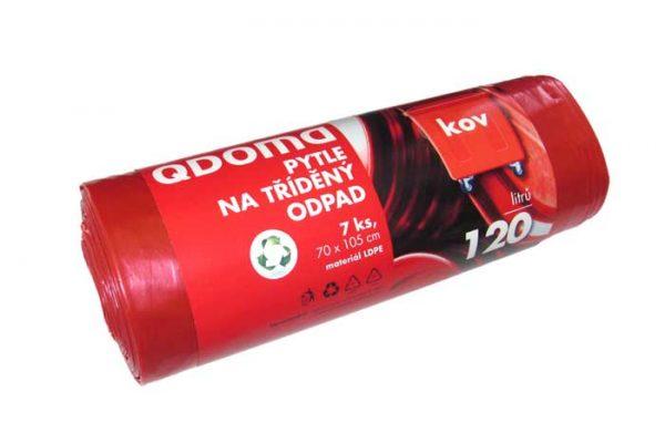 Szemeteszsák LD 120l / 7 db FÉM piros Q138