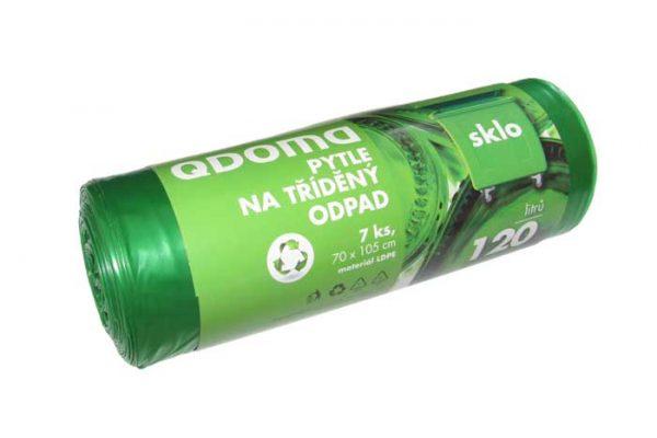 Szemeteszsák LD 120l / 7 db ÜVEG zöld Q139