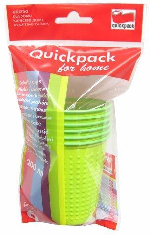 Zöld poharak, 6 db, 200 ml Q215