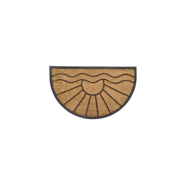 PRECIS – lábtörlő 45×75 cm kókusz + gumi félkör R6007
