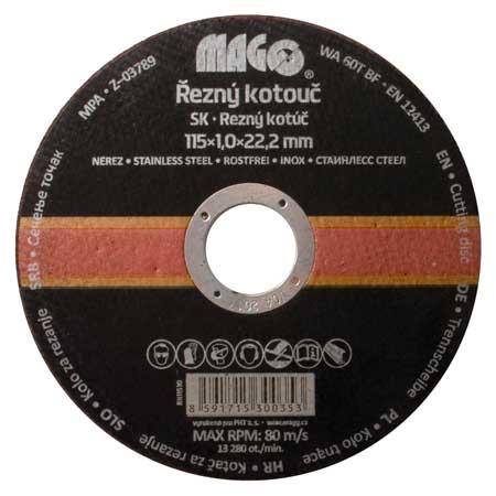 Vágókorong rozsdamentes acélhoz 115×1,0x22,2 mm RN11510