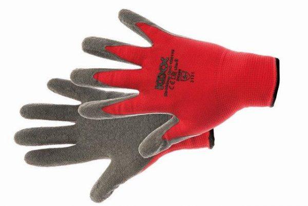 ROCKING RED kesztyű nylon, latex tenyér piros 11