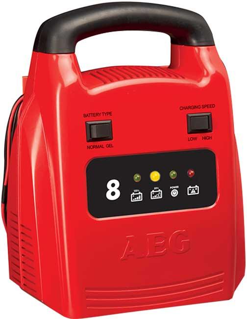 AEG automata akkumulátor töltő 8A, 12V, 2-80Ah SA-97003