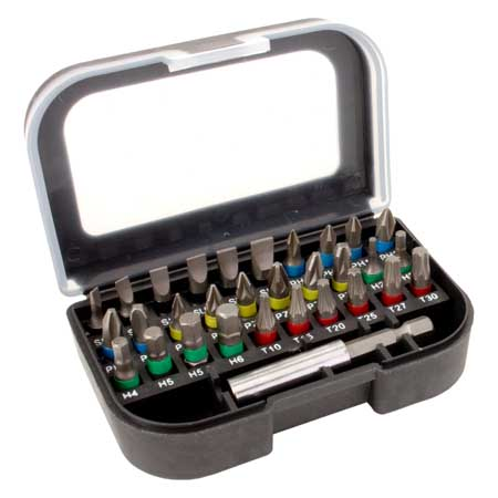 MAGG bitkészlet bit készlet 30 darabos 25 mm mágneses befogóval SB3025