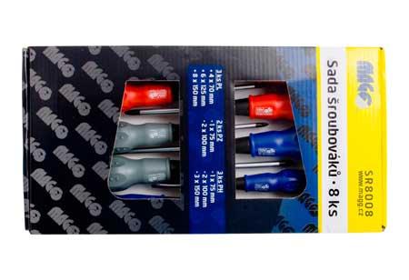 Csavarhúzó készlet, 8 darabos ( 3xPL, 3xPH, 2xPZ) SR8008
