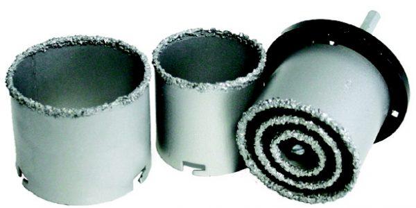 Koronafúró dobozfúró készlet gyémántszemcse bevonattal 33,53,67,73,83 mm STVYKSET7