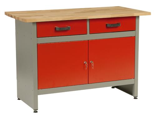 MARS munkaasztal munka asztal 2 fiókos 1 ajtós 120x60x84 5800