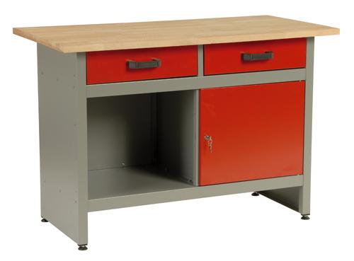MARS munkaasztal munka asztal 2 fiókos 1 ajtós 120x60x84 5801