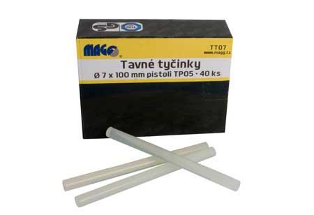 MAGG ragasztórúd átlátszó ragasztó rúd 7×100 mm 40db/csomag TT07