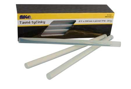 MAGG ragasztórúd  átlátszó ragasztó rúd 11×200  mm 20  db/csomag TT11