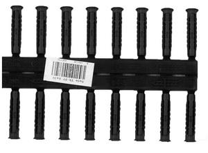 Univerzális tipli TX-PP 6×30, készlet 2×10 db fekete TX-PP06X30