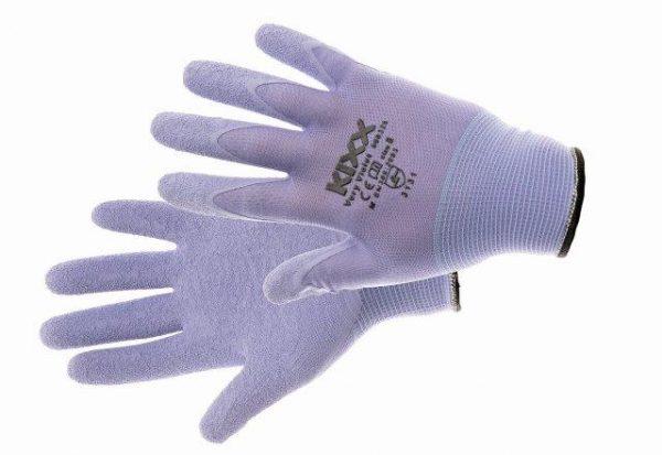VERY VIOELT kesztyű nylon, latex tenyér lila 8