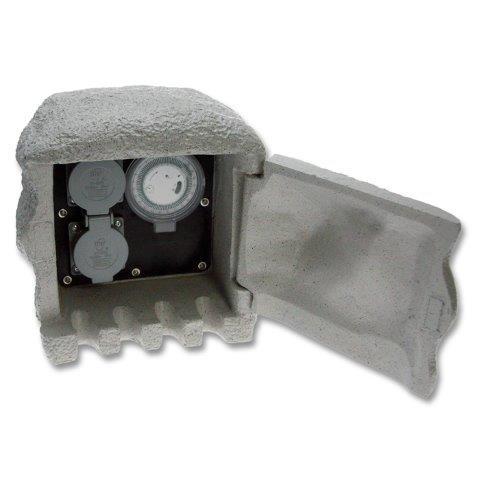 Kő oszlop 2 x dugalj, időzítő XSTA-222GT