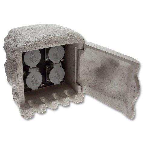 Kő oszlop 4 x dugalj XSTA-224G